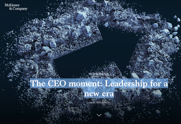 The CEO moment: Leadership for a new era